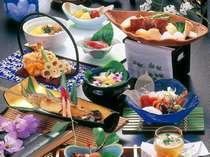 旬の食材いっぱいの目にも涼しい月毎に替わる夏会席(イメージ)