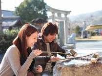 【湯郷温泉★咲くLOVEプラン】特典(1)縁結びの神様が祀られる「湯神社」へGO!