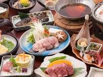 岡山和牛の陶板焼きか蟹酢…ご希望のお料理をお選び下さい。