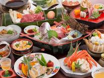 <秋の美味宝石箱会席>小鯛の姿造り!岡山和牛!松茸!ズワイガニ!鮑!とメインがいっぱい♪