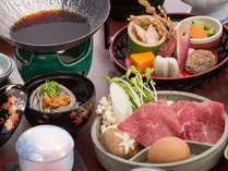 <岡山和牛のすき焼き>みんな大好きスキ焼!でしっかりお食事も♪