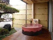 露天風呂付客室一例~いつでも自由にご入浴頂けます~
