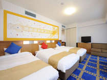 スタンダードトリプル/フォース(35平米/3-4名1室)ゆったり広々としたお部屋。,大阪府,ホテル京阪 ユニバーサル・シティ