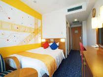 カジュアルダブル(18平米/2名1室)コンパクトで使いやすいお部屋です。,大阪府,ホテル京阪 ユニバーサル・シティ