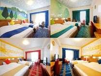 コンフォートルーム(2~4名様1室/27平米)。内装はホテルにおまかせ!