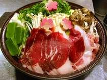 信州ジビエ 山福鍋(県産 猪、鹿、地鶏の入った鍋です)