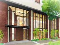 【ホテルエントランス】木目を基調としたナチュラルな外観地下鉄「久屋大通」から徒歩1分