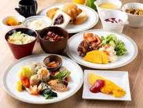 【朝食】名古屋と九州の名産をふんだんに使用した和洋ブッフェ