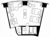 デラックスツインルーム(40.8平米)
