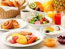 常時約50種類以上のメニューが並ぶ朝食ブッフェ♪