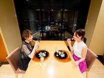 お料理とともに40階からの夜景もお楽しみください
