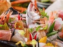 新鮮魚介のお造りは絶品