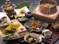 冬の四季御膳例。お部屋または個室にてお召し上がり頂けます。