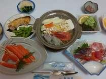 地物の新鮮な魚介類を使ったお料理
