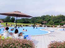 屋外/夏季限定ガーデンプール一例。大小2つ有ります♪みんなで楽しく水遊び!