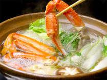 ぐつぐつ・・蟹の旨味が染みだした出汁が美味!!(一例)