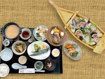 【松プラン】と 徳島海陽町でとれた海の幸をふんだんに使った「海」コース