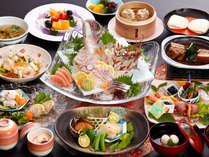 【鯛の姿造り・季節の釜飯付】 卓袱(しっぽく)料理プラン ☆レイトチェックアウト11時☆