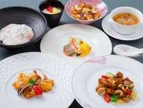 室数限定★平日だけの夕朝食付きプラン 中国料理 桃園 料理一例