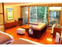【スタンダードD】階下を見下ろし、外の自然との一体感を感じられる開放感があります。