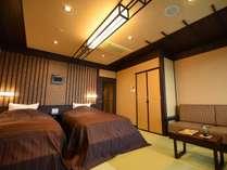 翠雨:おふたり様の距離をぐっと近づけてくれる、ブラウンを基調とした、プライベート感あふれるお部屋。