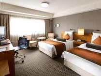 ツイン【朝食付き】 くつろぎのレギュラーフロア(7-18階)ベーシックなお部屋でホテルステイを楽しむ