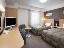 ツインエコノミー■広さ19平米・ベッド幅123センチ