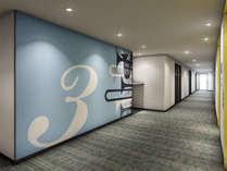 【エレベーターホール】階ごとに異なるデザインから、楽器の街「浜松」ならではのご当地感を感じてください