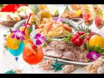 今年は6月から8月はハワイアンビュッフェを開催。愛知のハワイへ是非!