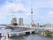 隅田川とスカイツリーが一望できます!