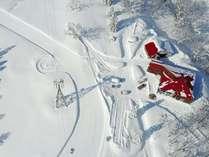 上空から撮影した冬のモンルポ
