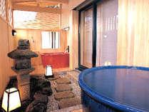 露天風呂付客室庭