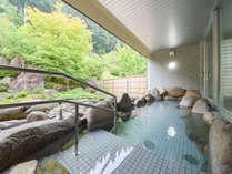 *【半露天風呂】温泉基準の3,3倍のラドンを含有する東山名水の冷鉱泉を使った温泉です