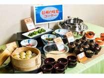 【ご朝食バイキング】そば・おやき・とろろ・野沢菜など信州松本ならではのご当地グルメもご用意♪