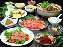 信州名物馬刺しを中心とした日替わりグレードアップ料理です。