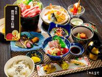 夕食「郷土料理」/ 本館2階食事処…薩摩鍋や黒豚軟骨味噌煮など鹿児島の美味しい郷土料理でおもてなし