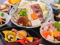 旬の彩り『冬の味覚会席』頭を蒸して食べる「骨蒸し」はあっさりとして旨味がたっぷり(イメージ)