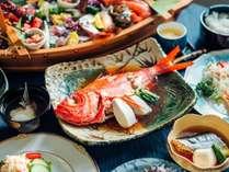 夕食の金目鯛の煮付けプラン