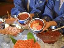 【朝食ビュッフェ】朝のビュッフェで海鮮丼を作ってみよう!