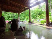 大自然に囲まれた癒しの露天風呂で湯ったり♪