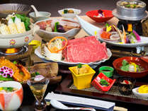 ご当地和牛やきりたんぽ鍋など郷土料理を加えたちょっと贅沢なご夕食。