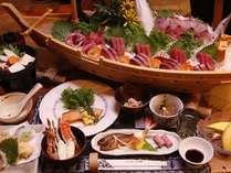 舟盛付き夕食例