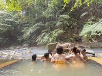 女性専用川岸露天風呂