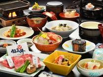 【彩の膳】★人気No1★とろけるような福島牛を贅沢に食べ比べしよう♪彩ゆたかな旬の味覚を食す旅~♪