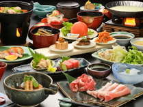 【食事は個室確約】福島県の食材を中心とした郷土料理「福島お膳」◆1泊2食付【リラックスステイ】