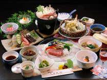 ◆【和牛ステーキコースGU版】季節のてんぷらや鴨鍋が楽しめるグレードアップコースです