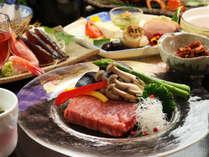 ◆【雪コース一例】最上級コース「雪-yuki-」では、A5ランクの和牛ステーキが楽しめます