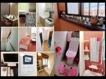 全ての寝室は個室タイプ(共用バスルーム・トイレ)