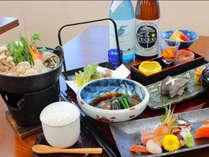 夕食一例*新鮮な三陸の魚介を扱った自慢の料理