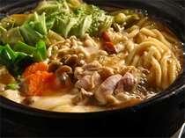 美味しい!がいっぱい詰まった味噌鍋は当館発祥のメニューです。(味噌鍋は当館から始まりました。)